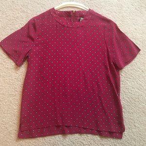 Madewell Silk Short Sleeve Shirt